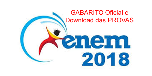 Gabarito oficial e provas do ENEM 2018 para download