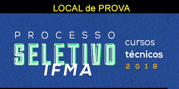Local de prova do seletivo 2019 do IFMA para cursos técnicos e impressão do cartão de confirmação de inscrição