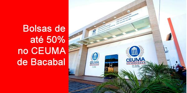 Bolsas de até 50% em cursos de graduação no CEUMA de Bacabal em 2019.1 através do Quero Bolsa