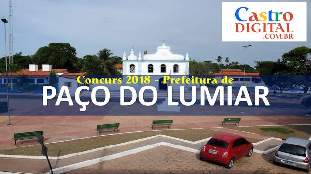 Edital do concurso 2018 da Prefeitura de Paço do Lumiar – MA