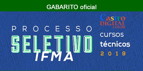 Gabarito do seletivo 2019 do IFMA de cursos técnicos e calendário atualizado das próximas etapas