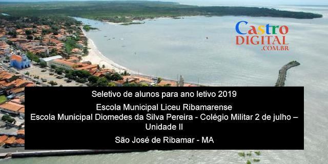 Editais do seletivo 2019 para o Liceu Ribamarense e Colégio Militar de São José de Ribamar – MA