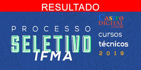 Resultado do seletivo 2019 do IFMA para cursos técnicos – Listas de aprovados e excedentes