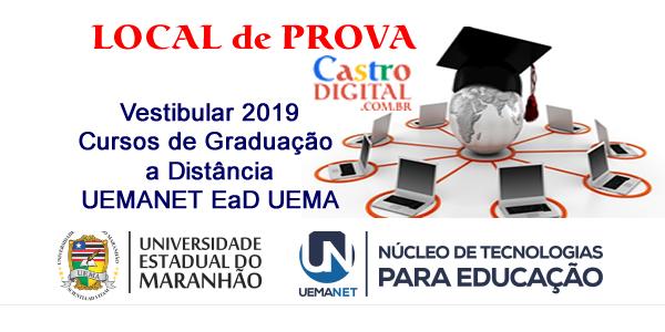 Local de prova do vestibular 2019 da UEMANET para cursos de graduação a distância – EaD UEMA e impressão da confirmação de inscrição