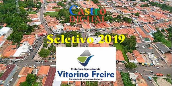 Edital do seletivo 2019 da Prefeitura de Vitorino Freire – MA