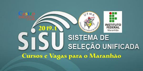 Lista de cursos e vagas na UFMA e no IFMA pelo SiSU 2019.1