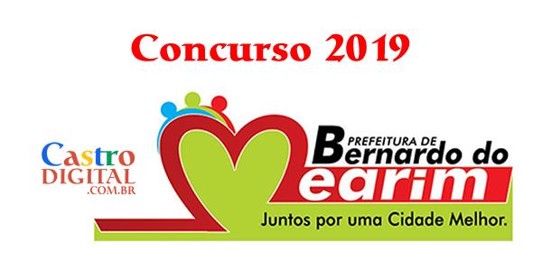 Edital do concurso 2019 da Prefeitura de Bernardo do Mearim – MA