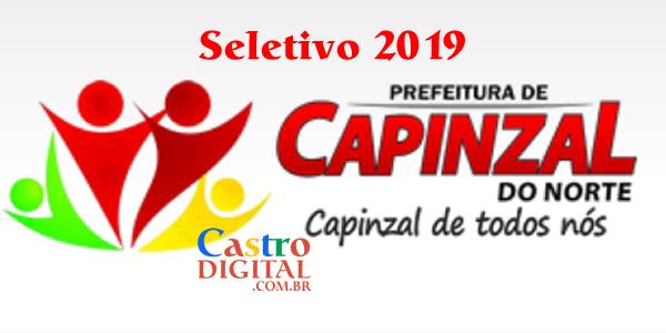 Edital do seletivo 2019 da Prefeitura de Capinzal do Norte para contrato temporário