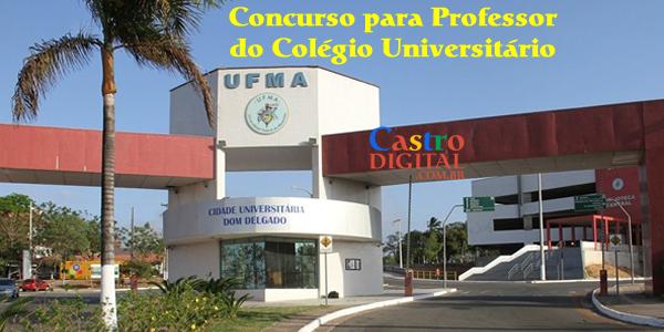 Edital do concurso 2019 para Professor do COLUN da UFMA