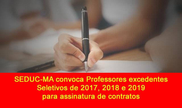 Seduc-MA convoca professores excedentes dos seletivos de 2017, 2018 e 2019 para assinatura de contrato