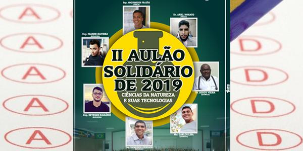 Inscrições para 2º Aulão Solidário 2019 em Bacabal da Igreja Batista El-Shammah com revisões para ENEM, vestibulares e concursos