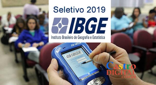 Autorizado seletivo 2019 do IBGE com mais de 200 mil vagas em todo Brasil