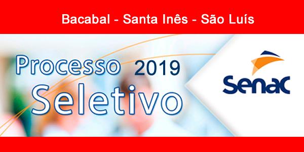 Edital do seletivo 2019 do SENAC-MA