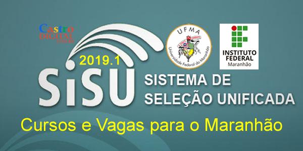 Lista de cursos e vagas na UFMA e no IFMA pelo SiSU 2019.2
