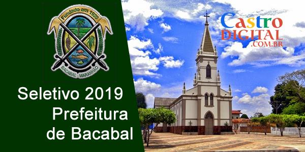 Edital do seletivo 2019 da Prefeitura de Bacabal para o Programa Mais Alfabetização