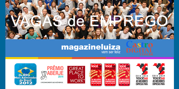 Vagas de emprego na Magazine Luiza para 2019 em cidades do Maranhão