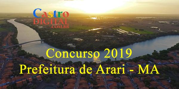 Concurso 2019 da Prefeitura de Arari – MA tem banca organizadora definida, veja a lista de cargos e vagas