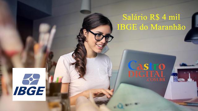 Edital do seletivo 2019 do IBGE para cargo de Analista – Vagas para o Maranhão