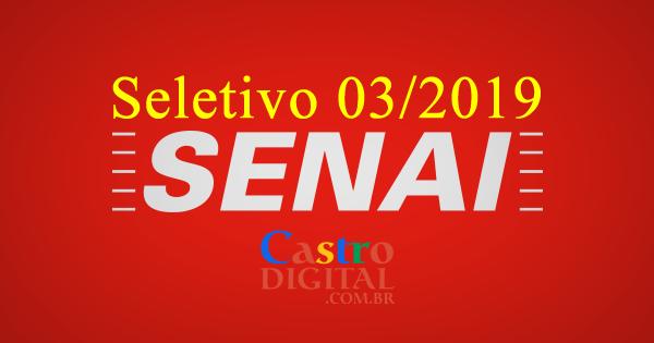 Edital do seletivo 2019 do SENAI do Maranhão para contrato intermitente