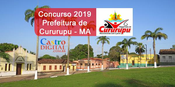 Edital do concurso 2019 da Prefeitura de Cururupu – MA