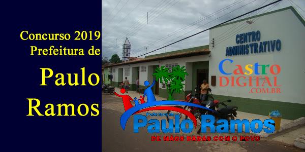 Edital do concurso 2019 da Prefeitura de Paulo Ramos – MA