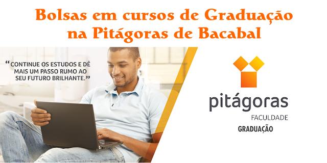 Bolsas em cursos de graduação na Pitágoras de Bacabal em 2019.2 através do Quero Bolsa