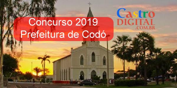 CONCURSO 2019 da Prefeitura de CODÓ – MA tem banca definida, veja a lista de cargos e vagas