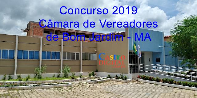 Concurso 2019 da Câmara de Bom Jardim – MA tem projeto aprovado