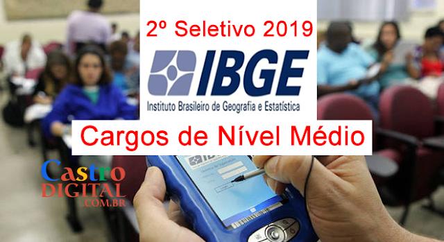 Edital do SELETIVO 2019 do IBGE para NÍVEL MÉDIO está previsto para este mês com vagas em todo Brasil