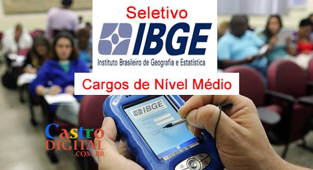 EDITAL do seletivo 2019 do IBGE para nível médio