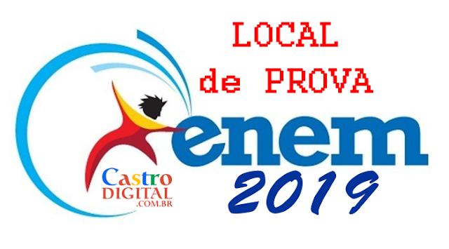 Local de prova do ENEM 2019 e cartão de confirmação de inscrição