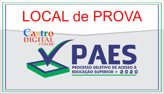 Local de prova da 1º etapa do PAES 2020 – Vestibular UEMA e UEMASUL e impressão do cartão de confirmação de inscrição