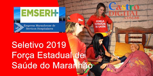 Edital do seletivo 2019 da EMSERH para a Força Estadual de Saúde do Maranhão (FESMA)