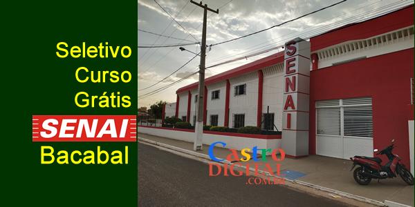 Seletivo 2019 para curso grátis no SENAI de Bacabal – Edital 05/2019