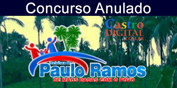ANULADO concurso 2019 da Prefeitura de Paulo Ramos – MA