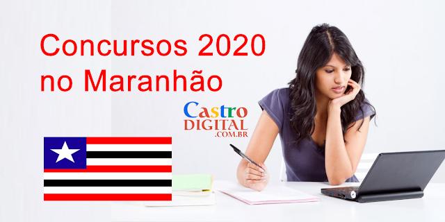 Lista de CONCURSOS previstos para 2020 no MARANHÃO
