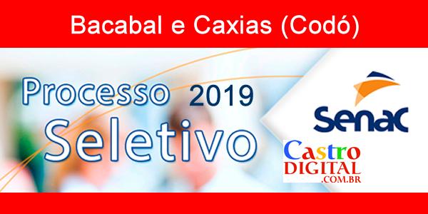 Edital 03/2019 do seletivo do SENAC-MA