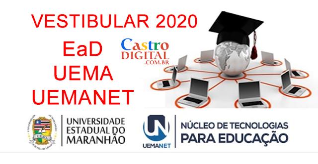 EDITAL e inscrição do vestibular 2020 EaD UEMA/UEMANET para cursos de graduação a distância – Seletivo simplificado