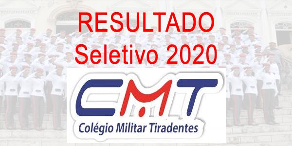 Resultado do seletivo 2020 do CMT (Colégio Militar Tiradentes)