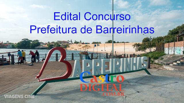 EDITAL do concurso 2019/2020 da Prefeitura de BARREIRINHAS – MA