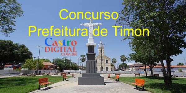EDITAL do concurso 2019/2020 da Prefeitura de TIMON – MA para Professor de diversas áreas