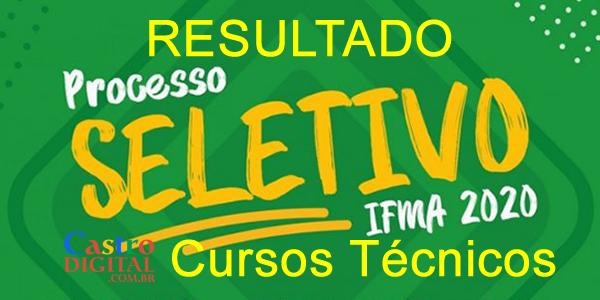 Resultado preliminar do seletivo 2020 do IFMA para cursos técnicos