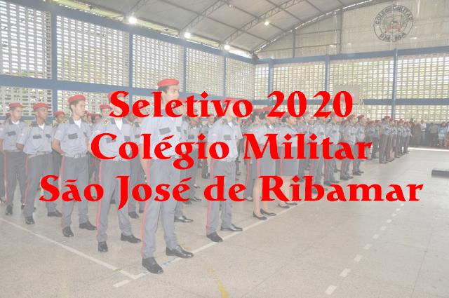 Edital do seletivo 2020 para o Colégio Militar de São José de Ribamar – MA