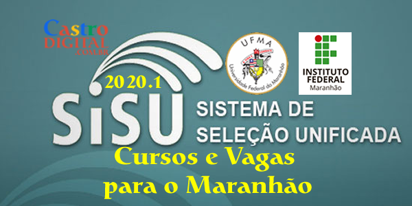 Lista de cursos e vagas na UFMA e no IFMA pelo SiSU 2020.1