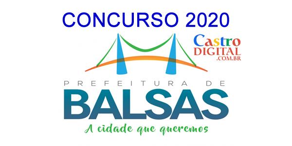 Edital do concurso 2020 da Prefeitura de BALSAS – MA
