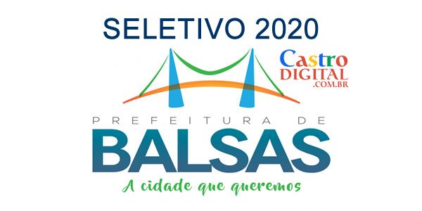 Edital do seletivo 2020 da Prefeitura de BALSAS – MA para contrato temporário