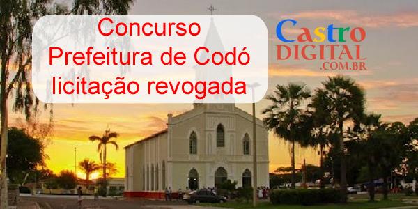 Concurso da Prefeitura de Codó revoga licitação para escolha da banca