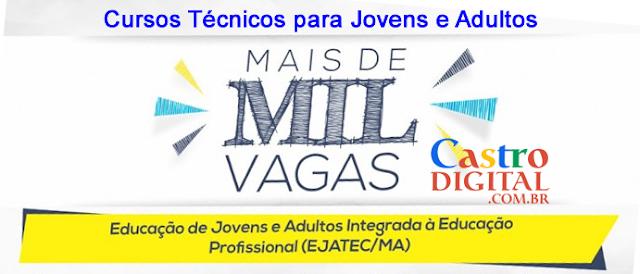 Seduc-MA: pré-matrículas Ejatec 2020 (ensino médio técnico para jovens e adultos)
