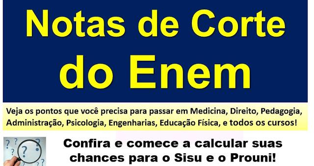 Simulador de nota de corte do ENEM: calcule suas chances para entrar na faculdade pelo SiSU, Prouni e Fies