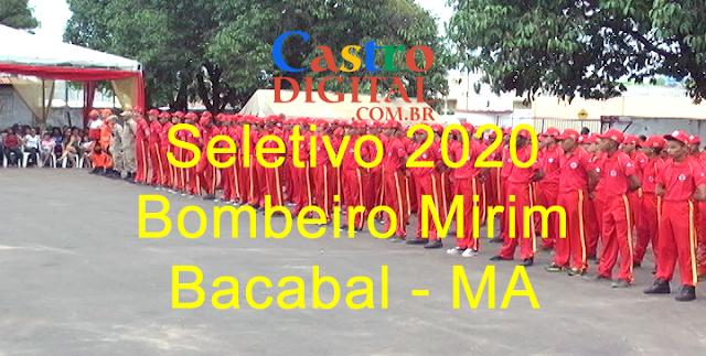 Seletivo para Bombeiro Mirim 2020 em Bacabal – MA